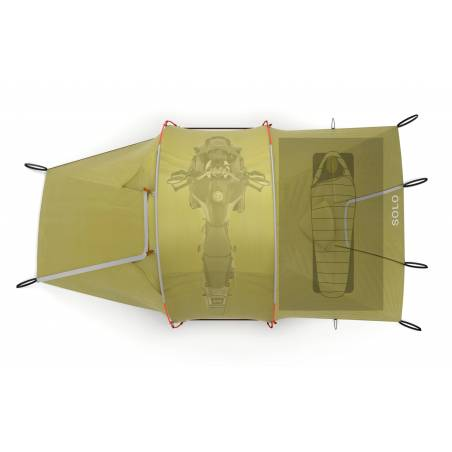 SOLO MOTORFIETS TENT  Solo Expedition Tent Redverz Gear €499.00