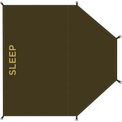 Redverz Gear Groundsheet Sleeping €49.00