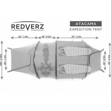 ZELTE Atacama Motorradzelt Grün Redverz Gear €599.00